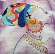 A beautiful embroidery by Viviane