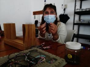 Brasilia preparing for bracelet making