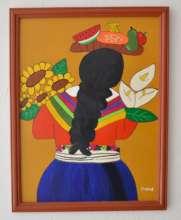 """""""Mujer con flores y frutas"""""""