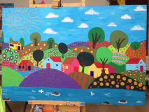 A painting commissioned by L'Arche Atlanta