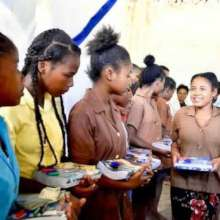 NiA Students receive school supplies every year.
