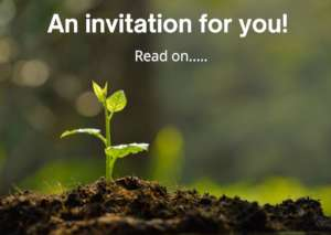 An invitation to join us.....