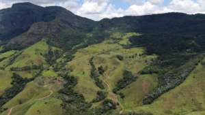 Drone's eye view of the land to be reforested
