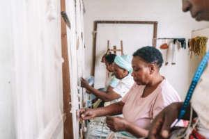 Imani women weaving