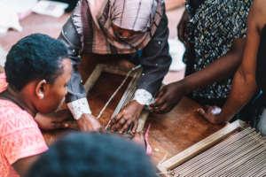 Training on Lap Loom