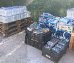 Water & baby food delivered after Moria fires