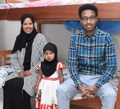 Wada and parents at CFACH Center