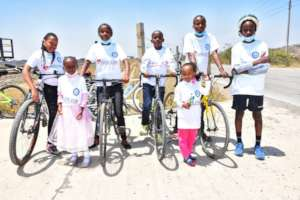 Cyclists with patients