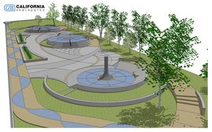 Alternative angle of the Street Plaza skatepark design.