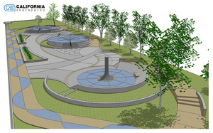 Current design concept for the Watts Skatepark.