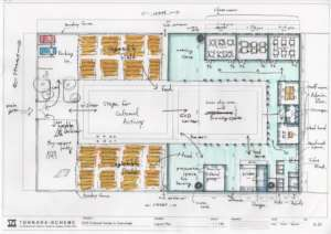 Mr. Yuya's site plan sketch of ECD Center