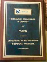 Recognition of Excellence in Creativity to T-zen