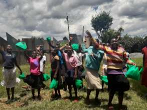 some girls supported with menstrual care kits