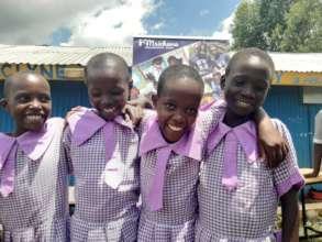 Handing over ceremony of girls uniforms