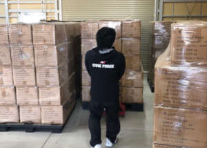 Supplies in the warehouse