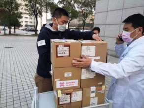 Distributing to Chinese hospital