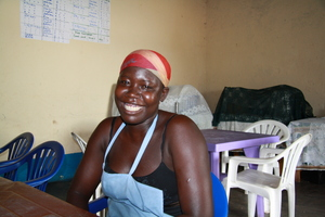 Akot Sata, beneficiary doing catering business