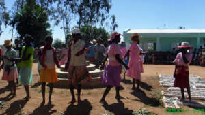 Traditional dance group performing