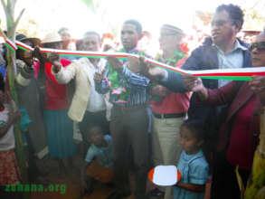 Regional education director cutting the ribbon