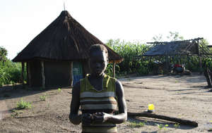 Marta Ikai, a beneficiary living in Omilling