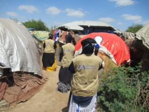 Female health workers raise COVID-19 awareness