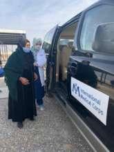 In Jordan, we transport refugees to vaccine sites