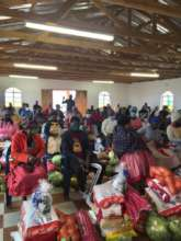 Community awareness day and food parcels give out