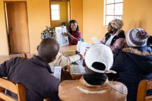 Zintathu with the Home Based Care group