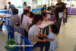 Parents and relatives register new students