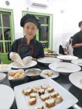 Trainees enjoying their chef training