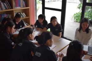 English tutoring session