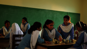 Playing chess in school