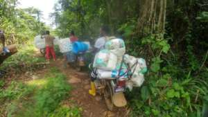 hygiene supplies reaching Loe Balondo
