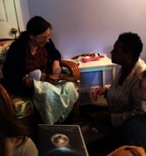 Claudia Booker teaching with Vicki Penwell