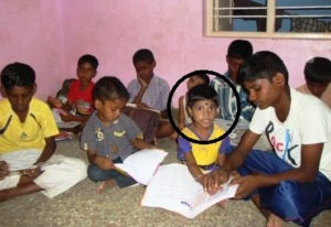 Latha with other children