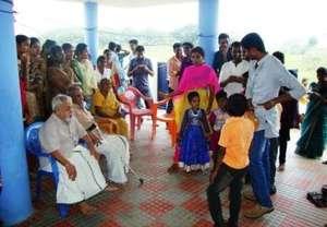 Children with volunteers/donors & senior citizens