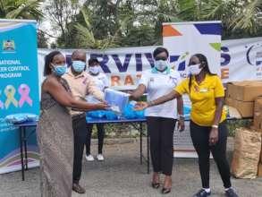 Face masks distribution to cancer survivors, NCSD