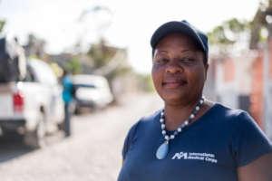 Nurse Christine, a member of a mobile medical team