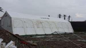 The cholera treatment center in Les Anglais, Haiti