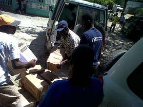 Unloading medical supplies