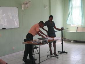 Mackenson presenting to the class