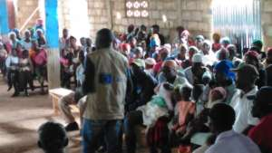 Franck leading a community outreach session