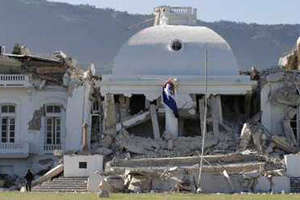 Destruction at the Presidential Palace