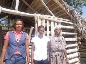 One of the goat pens built by the women of OFJ