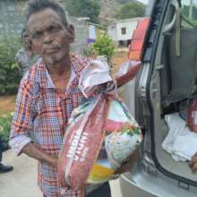 Received relief food essential kit