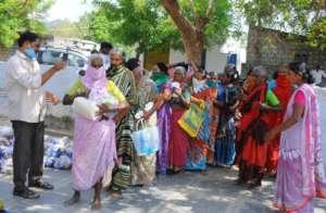 BASS covid Relief in a slum Guntur