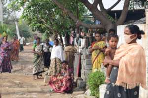 Slum families without works