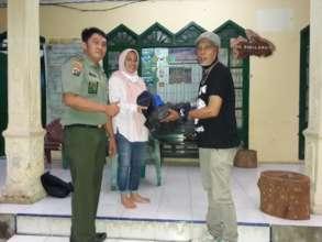 donate hammock to bksda officila at TWA sibolangit