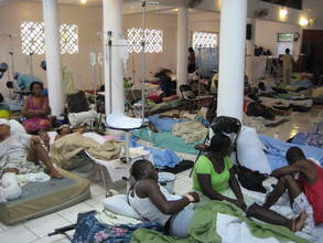 The church in Cange, Haiti - turned into a patient ward