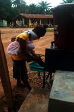 Handwashing at Foya-Borma Hospital